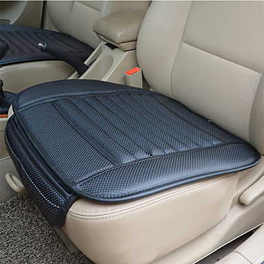 cheap Car Seat Covers-Breathable PU Leather Bamboo Charcoal Car Interior Seat Cover Cushion Pad Auto Chair Cushion Universal Car-styling Supports  for Auto Supplies Office Chair
