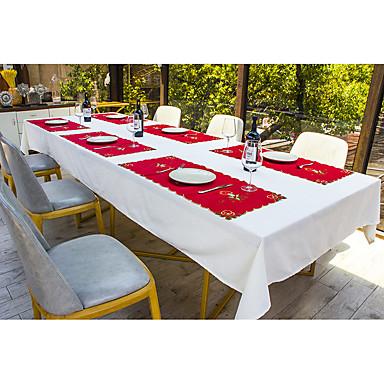 Klassisk polyesterfiber Kvadrat Bordskånere Borddekorasjoner