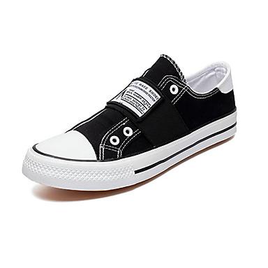Homens Sapatos Confortáveis Lona Verão Casual Tênis Não escorregar Preto / Verde / Branco