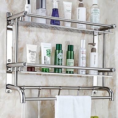 Ράφιι μπάνιου Δημιουργικό Σύγχρονο Ανοξείδωτο Ατσάλι 1pc - Μπάνιο Επιτοίχιες