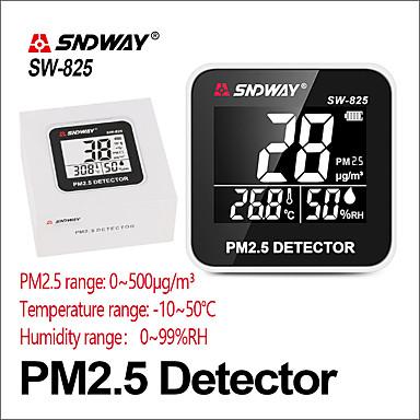 voordelige Test-, meet- & inspectieapparatuur-sndway gasanalysatoren gasdetector pm 2.5 luchtkwaliteitsmonitor pm2.5 detector elektrische sw-825 lcd-scherm digitale gasdetector
