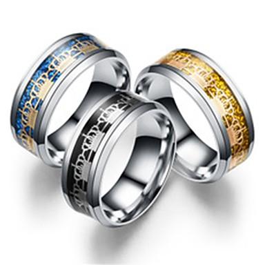 Γυναικεία Band Ring Δαχτυλίδι Δαχτυλίδι ουράς 1pc Χρυσό Μαύρο Μπλε Ανοξείδωτο Ατσάλι Τιτάνιο Ατσάλι Κυκλικό Βασικό Μοντέρνα Δώρο Καθημερινά Κοσμήματα Στέμμα Απίθανο