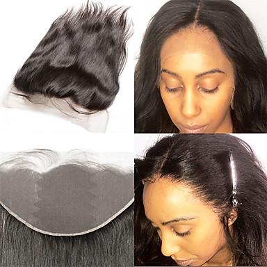 Laflare Brasiliansk hår 4X13 Lukking Rett Gratis Part Sveitsisk blonde Ekte hår Dame Dame / Ekstensjon / Beste kvalitet Jul / Halloween / Hverdag