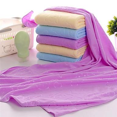 Qualidade superior Toalha de Banho, Sólido / Desenho Animado / Moderno Poliéster / Algodão / 100% Micro Fibra Banheiro 1 pcs