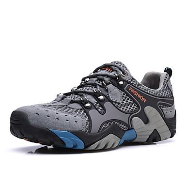 Ανδρικά Παπούτσια άνεσης PU Καλοκαίρι / Φθινόπωρο Αθλητικό Αθλητικά Παπούτσια Πεζοπορία Αναπνέει Μπλε / Ανοικτό Καφέ / Χακί