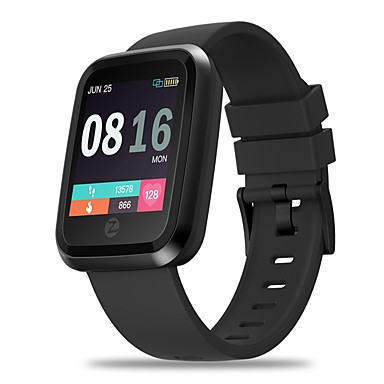 zeblaze crystal 2 smartwatch 2,5d 1,3inch fargeskjerm gorilla glass ip67 vanntett hjertefrekvensmåler mote smart klokke