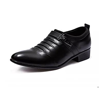 Ανδρικά Παπούτσια άνεσης PU Καλοκαίρι Καθημερινό Μοκασίνια & Ευκολόφορετα Μη ολίσθηση Μαύρο / Λευκό