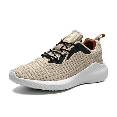 Ανδρικά Παπούτσια άνεσης Φουσκωτό πηνίο Καλοκαίρι Καθημερινό Αθλητικά Παπούτσια Τρέξιμο Αναπνέει Μαύρο / Κίτρινο / Κόκκινο
