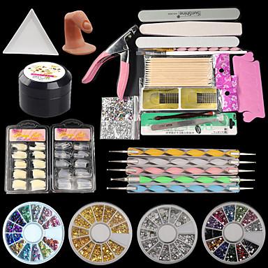 acrílico brilhante glitter unhas nail art acrílico nail kit