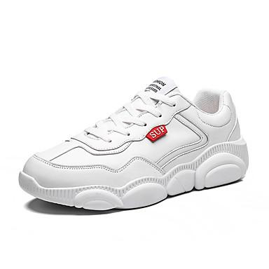 Ανδρικά Φως πέλματα PU Ανοιξη καλοκαίρι Αθλητικό / Καθημερινό Αθλητικά Παπούτσια Αναπνέει Λευκό / Μπεζ