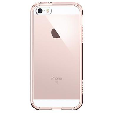povoljno iPhone maske-Θήκη Za Apple iPhone SE / 5s / iPhone 5 Otporno na trešnju Stražnja maska Jednobojni / Prozirno Mekano Tikovina / plastika