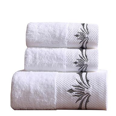 Overlegen kvalitet Badehåndkle, Ensfarget Bomull / Linblandning Baderom 1 pcs