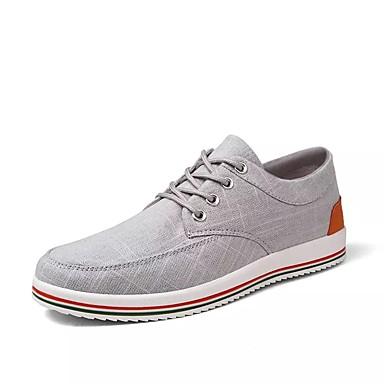 Ανδρικά Παπούτσια άνεσης PU Καλοκαίρι Αθλητικά Παπούτσια Λευκό / Μπλε / Γκρίζο / ΕΞΩΤΕΡΙΚΟΥ ΧΩΡΟΥ