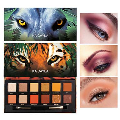 12 χρώματα σκιά ματιών τίγρη χοίρων πάγος λύκος ζώο δώδεκα χρώμα ματ μαργαριτάρι σκιά ματιών διαρκή μακιγιάζ
