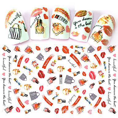 preiswerte Aufkleber für Nägel-1 pcs Aufkleber Blumen Serie Nagel Kunst Maniküre Pediküre Ministil / Sicherheit / Ergonomisches Design Stilvoll / Einfach