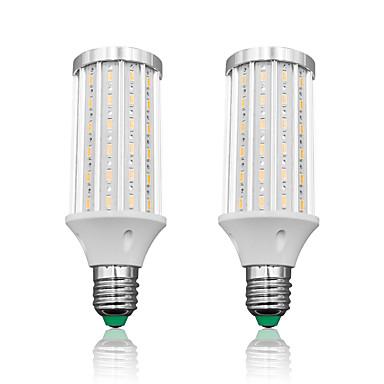 Loende 2 pacote e27 led milho luz 25 w ac85-265v 90 leds smd5730 2500lm lâmpada led branco / branco quente
