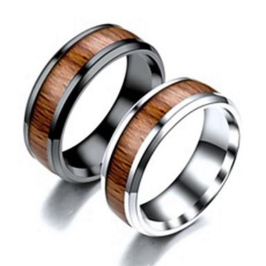Herre Band Ring Ring Tail Ring 1pc Svart Sølv Titanium Stål Sirkelformet Grunnleggende Mote Gave Daglig Smykker Kul
