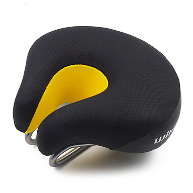 povoljno Dijelovi za bicikl-Sjedalo Izuzetno široka Prozračnost Udobne Professzionális Koža Čelik Memorijska pjena Biciklizam Cestovni bicikl Mountain Bike Rekreativna vožnja biciklom Crn Crno bijela  / Crna / žuta / Gust