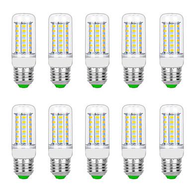 10pcs 8 W LED-kornpærer 3000 lm G9 B22 E12 / E14 T 56 LED perler SMD 5730 Varm hvit Hvit 220 V 110 V
