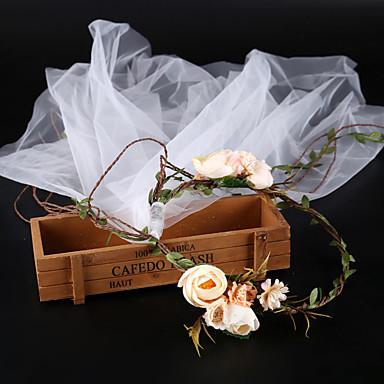 Τούλι με Λουλούδι 1 Τεμάχιο Γάμου / Causal Headpiece