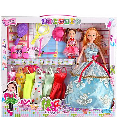 Lekesett Princess skjørt Tegneseriefigurer Smuk utsøkt Myk Plastikk Flonel Barne Alle Leketøy Gave 2 pcs