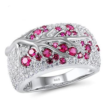 billige Motering-Dame Statement Ring Ring Kubisk Zirkonium 1pc Rose Edelsten og krystall Kobber Geometrisk Form Stilfull Enkel Fest Gave Smykker Klassisk Blomst Kul