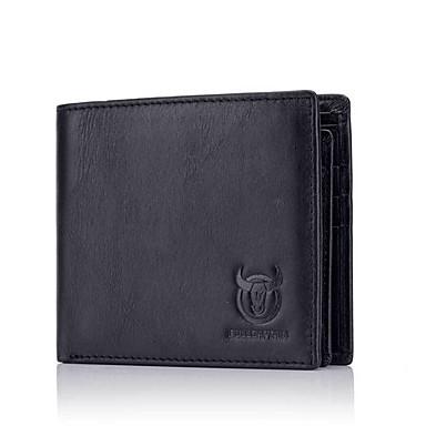 preiswerte BULLCAPTAIN®-(Bullcaptain) neue erste Schicht Leder Herren Casual Business-Dokumente Multi-Card Leder Cross Wallet