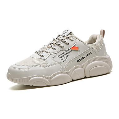Homens Sapatos Confortáveis Couro Ecológico Primavera Verão Formais / Colegial Tênis Respirável Branco / Bege / Cinzento / Não escorregar