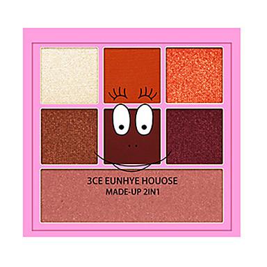 6 cores Sombra para Olhos Sombra de olho Exterior Fácil de transportar Pró Fácil Uso Ultra Leve (UL) Profissional Maquiagem para o Dia A Dia Cosmético Dom