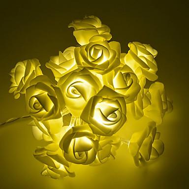 2m 20 lyser rose strengelys varm hvit / rgb / hvit kreativ / fest / bryllupsbatterier drevet 1 sett