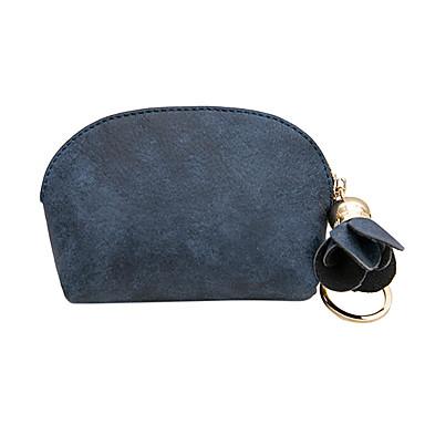 رخيصةأون إكسسوارات صغيرة-نسائي سحاب PU محفظة للنقد لون الصلبة أسود / زهري / أزرق داكن