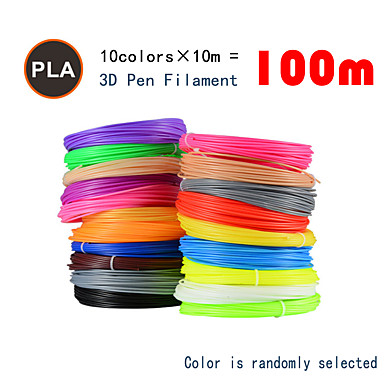 cheap 3D Printers & Supplies-Myriwell  PLA 1.75mm filament 10colors 10m Random color selected 3d printed pla 1.75mm 3d pen plastic 3d printer pla filament 3d pens pla Environmental Safety