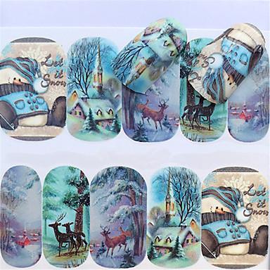 1 pcs Αυτοκόλλητα Σειρά κινούμενων σχεδίων τέχνη νυχιών Μανικιούρ Πεντικιούρ Mini Style / Ασφάλεια / Εργονομικός Σχεδιασμός Στυλάτο / Απλός