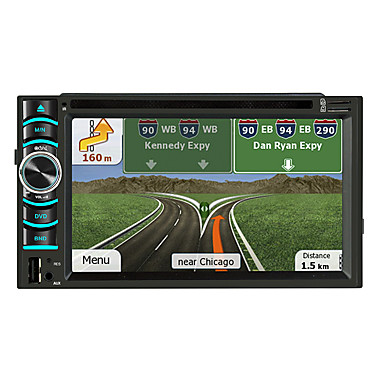 billige Bil Elektronikk-litbest 6116 6,2 tommers 2 din android in-dash bil dvd-spiller / bil gps navigator berøringsskjerm / gps / innebygd Bluetooth for universal Bluetooth støtte mov / rm og så videre
