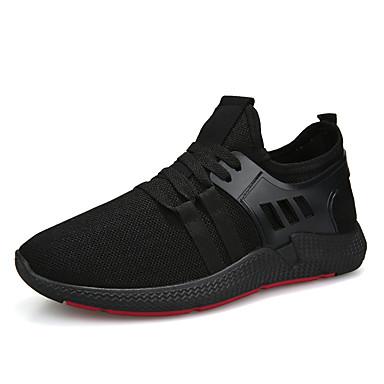 Ανδρικά Οδήγηση παπούτσια Βαμβάκι / Φουσκωτό πηνίο Φθινόπωρο / Ανοιξη καλοκαίρι Καθημερινό Αθλητικά Παπούτσια Περπάτημα Αναπνέει Μαύρο / Μαύρο και Άσπρο / Μη ολίσθηση