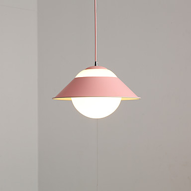 minimalistisk anheng lys ledning justerbar hengende lysarmaturer macaron fargerike anheng lys downlight malt ferdig metall