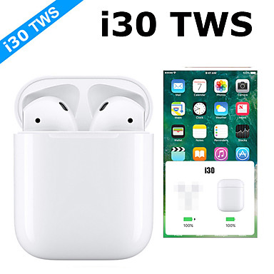 i30 tws pop up 11 ασύρματα ακουστικά replica 6d bass ξεχωριστά χρήση bluetooth 5.0 ακουστικά