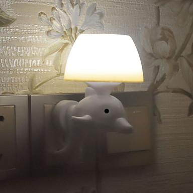 1pc Wall Plug Nightlight Hvit Kreativ 220-240 V