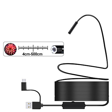 3-σε-1 ημι-άκαμπτη κάμερα endoscope usb 8mm ip68 αδιάβροχη φωτογραφική μηχανή φιδιών με 8 leds για τα παράθυρα και macbook pc endoscope ανδροειδές (μήκος 1m)