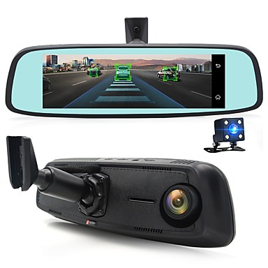 voordelige Automatisch Electronica-Junsun k755 speciale 4g lte auto camera spiegel 7.84 android adas gps dvr registrar dash cam video recorder met twee camera's