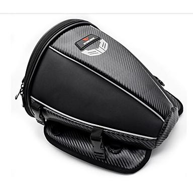 levne Organizéry do auta-wosawe motocykl nádrž zadní sedadlo vodotěsná boční taška multifunkční černá