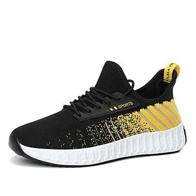 Ανδρικά Παπούτσια άνεσης Φουσκωτό πηνίο Καλοκαίρι Καθημερινό Αθλητικά Παπούτσια Περπάτημα Αναπνέει Μαύρο και Άσπρο / Μαύρο / Κόκκινο / Μαύρο / Κίτρινο