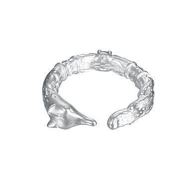 billige Motering-Dame Ring Åpne Ring Kubisk Zirkonium 1pc Sølv Sølv Enkel Klassisk Vintage Daglig Gate Smykker Klassisk Skulptur Rev Kul Smuk