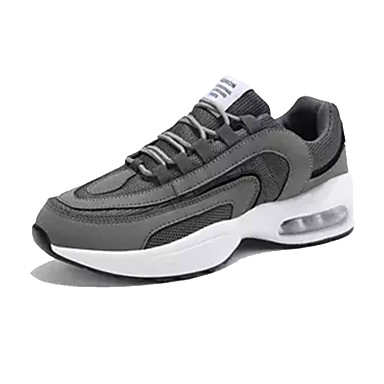 Ανδρικά Παπούτσια άνεσης PU Καλοκαίρι Αθλητικά Παπούτσια Περπάτημα Μαύρο / Λευκό / Γκρίζο