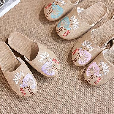 blonder lin / stoff sy hør slippers / kvinner tøfler / husholdning tøfler kinesiske elementer kinesisk stil tøfler