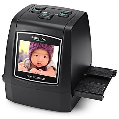 cheap Office & School-Film Scanner 135mm/ 126mm/ 110mm/ 8mm High-resolution Negative Film Slide Scanner Converter USB MSDC EU plug