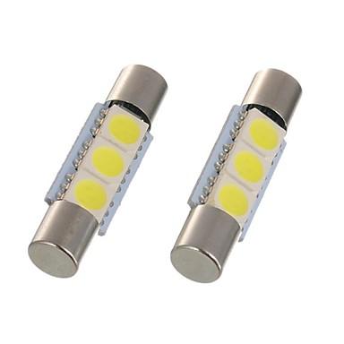 2pcs 28mm 29mm οδήγησε φεστιβάλ φως c5w 6614f ts-14v1c εσωτερική λάμπα αυτοκινήτου 3 smd 5050 xenon λευκό για αυτοκίνητο ματαιοδοξία καθρέφτη φως θόλος φως ανάγνωση φως