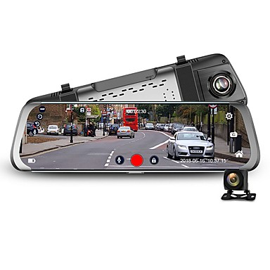 baratos DVR para Carros-Junsun a920 traço cam 10 stream media 3g espelho retrovisor full hd 1080p dvr dual len android 5.1 wifi gps recorder camera car car assist