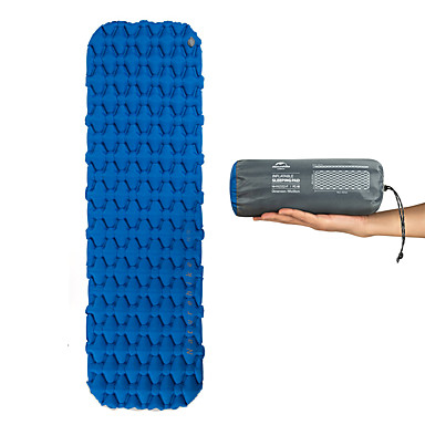 cheap Sleeping Bags & Camp Bedding-Naturehike Inflatable Sleeping Pad Air Pad Outdoor Camping Lightweight Rain Waterproof High Elasticity TPU Nylon 59*195*6.5 cm Camping / Hiking / Caving for 1 person Orange Blue