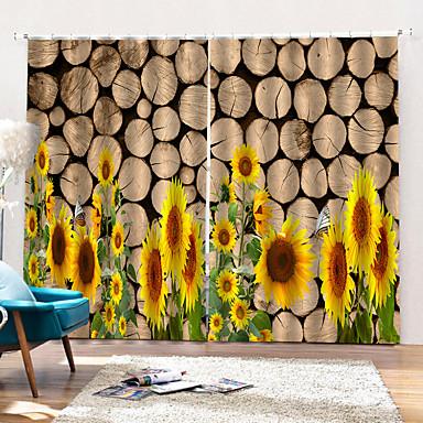 tilpasset pastoralt mote 100% polyester gardin stoff tykt vanntett fuktsikker dusj gardin med krok / ringer